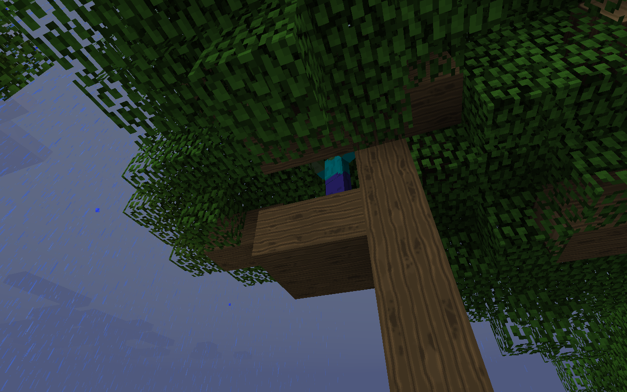 Zombie stuck In tree
